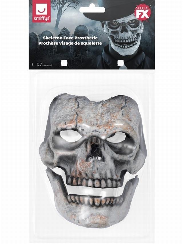 Foam Latex Skeleton Face Prosthetic £12.99 - Halloween - Wounds Scars u0026 Prosthetics Halloween FancyDress fancy dress balloons party goods ...  sc 1 st  Fancy Dress Costumes & Foam Latex Skeleton Face Prosthetic £12.99 - Halloween - Wounds ...