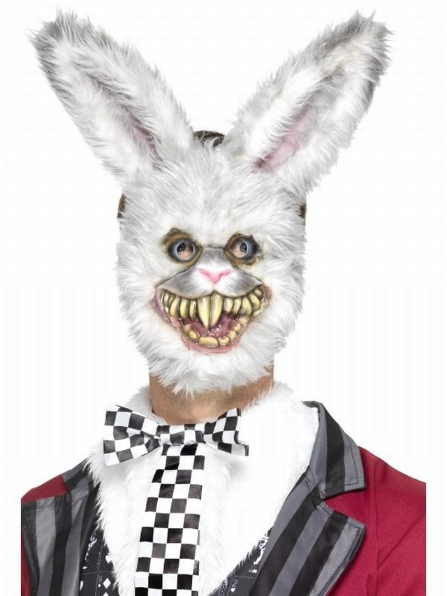 Halloween Masks Uk.White Rabbit Mask From Www Pureparty Co Uk