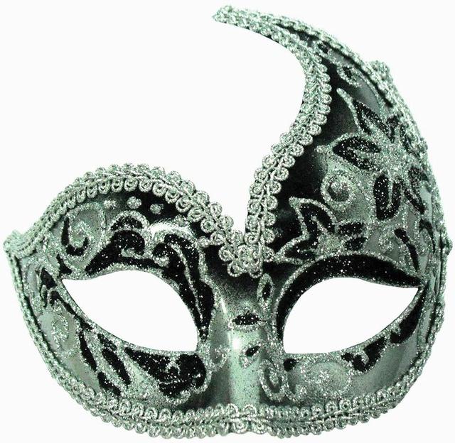 5b07b0d32df4 Black Silver Glitter Eye Mask £9.99 - Masks - Eye Masks Halloween ...