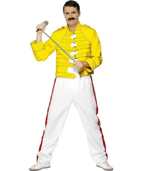 Freddie Mercury Wembley Costume £36.99 - Adult Fancy Dress - 80u0027s Halloween FancyDress fancy dress balloons party goods face paints and More  sc 1 st  Pure Party & Freddie Mercury Wembley Costume £36.99 - Adult Fancy Dress - 80u0027s ...
